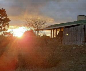 Couché de soleil sur l'Oreillette